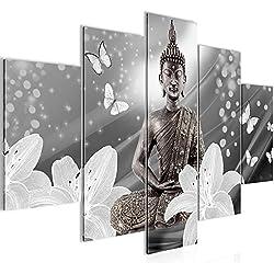 Cuadros de 150 x 100 cm - Cuadro de Buda - Cuadro en lienzo no tejido - Imagen artística en lienzo para la pared - Impresión de arte – Imagen para la pared – Formato XXL –Más colores y tamaños en la tienda – ¡¡¡Totalmente estirados!!! ¡¡¡100 % FABRICADOS EN ALEMANIA!!! - 505653c