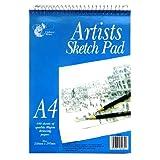Künstler A4 Sketch Block, Wiro-Drahtbindung, 100 Blatt, 297 x 210 mm
