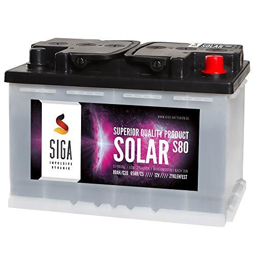 Unbekannt Solarbatterie 80AH Boots Wohnmobil Solar Caravan Versorgungs Batterie