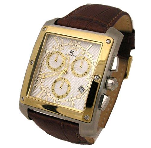 Oskar Emil Cambridge chronographe montre pour homme avec sangle de cuir véritable
