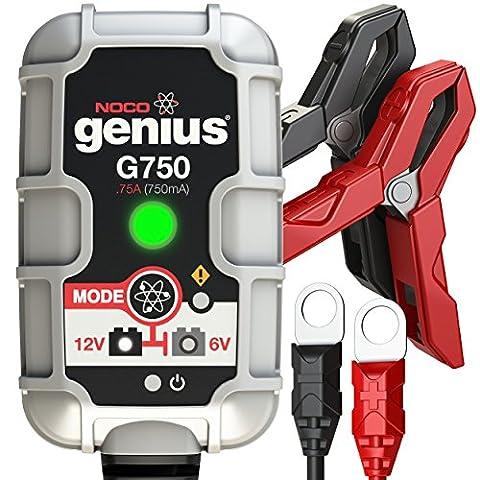 NOCO Genius G750 6V/12V .75A Ultra-sicheres und intelligentes Ladegerät (Pkw Batterieladegerät)