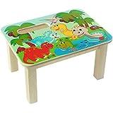 Hess Jouet en bois 30286Repose-pied en bois, Dinos Multicolore Env. 34x 25x 19cm