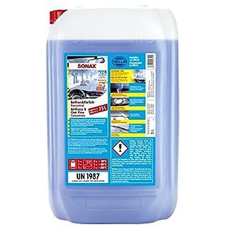 SONAX AntiFrost&KlarSicht Konzentrat (25 Liter) ergibt bis zu 75 Liter Winter-Scheibenwaschwasser, sofort mischbereit, schlierenfrei, Antikalk-Effekt | Art-Nr. 03327050