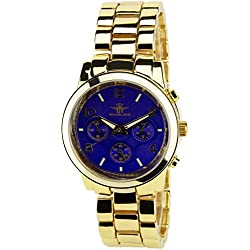 MICHAEL JOHN - Women's Watch Purple GOLD  Quartz STEEL Analogue Display Elegant Sport Fashion Band  GOLD STEEL