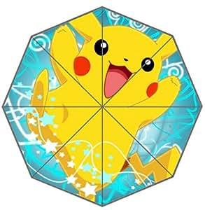 Top Quality Anti-UV Foldable Rain Sun Umbrella Pokemon Pocket Monster Pikachu 43.5 inch Foldable Umbrella Best Gift umbrella