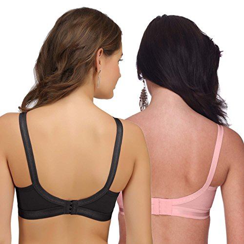 552779f7fcf 9% OFF on Sona Women s Perfecto Full Coverage Non-Padded Plus Size Cotton  Bra Multi Color Pack of 2 on Amazon