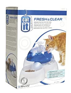 Cat It Pet Drinking Fountain with Food Bowl from Hagen