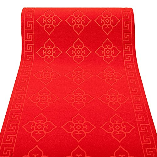 Hochzeit Teppich, Multi-Size-Optionale Red Roll Thicken Anti-Rutsch-Durable wiederholte Verwendung Runway VIP-Ausstellung, Dicke 5,5 mm