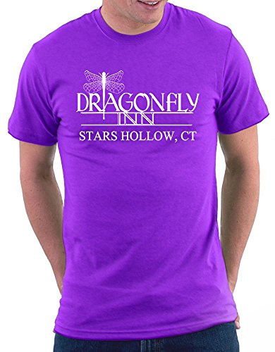 (Million Nation Gilmore Girls Dragonfly Inn T-shirt, Größe XXL, Violett)