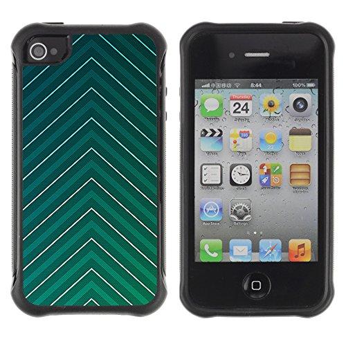 Graphic4You BLUE GRADIENT GRID Muster Harte Hülle Case Tasche Schutzhülle für APPLE IPHONE 4 und 4S Design #11