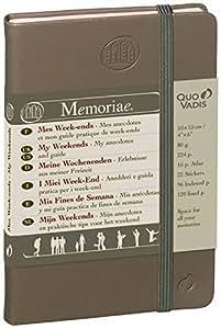 Quo Vadis - Memoriae - Memoriae Mes Weekends - 240 Pages Papier Ivoire 10x15 cm