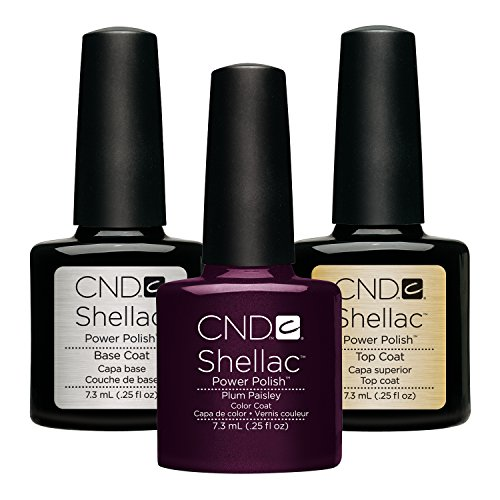 Base Coat Licht (CND Original CND Shellac Plum Paisley plus Top Coat plus Base Coat 7.3 ml, 1er Pack (1 x 22 ml))
