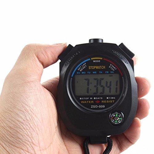 Xuthuly wasserdichte Digital LCD Stoppuhr Chronograph Timer Zähler Sport Alarm