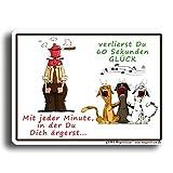 GUMA Magneticum 6119 Kühlschrankmagnet Sprüche Glück Magnet Katzen Musik Humor lustig