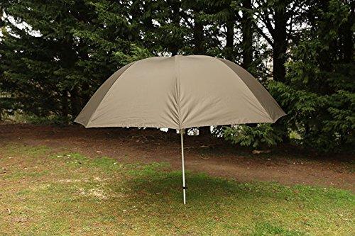Fox 60' Brolly - Angelschirm zum Ansitzangeln auf Raubfische & Karpfen, Schirm zum Angeln, Sonnenschirm zum Karpfenangeln