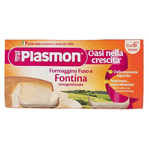 Plasmon omogeneizzato di formaggio di fontina - 2 vasetti da 80 gr