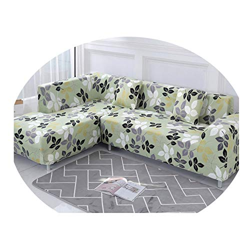 Nordic Sofa Cover Cotton Set Couch Cover Elastic Sofa Cover for Living Room Order 2Pieces to Fit for L-Shape Chaise Longue Sofa Color 3 2-Seater 145-185cm