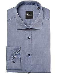 Venti Hemd Edition Slim Fit gemustert blau Kent mit Kontrast