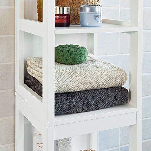 sobuy mueble columna de bao armario para bao estantes y cajones frgw es comprar barato
