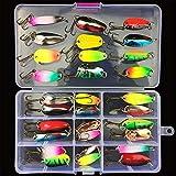 CHSEEO Kit di Esche da Pesca, 31Pcs Artificiale Pesca Richiamo Set Esche da Pesca Crankbaits Swimbait Cucchiaini da Pesca Attrezzatura di Pesca Esche Artificiali Perfetto per Pesca #1