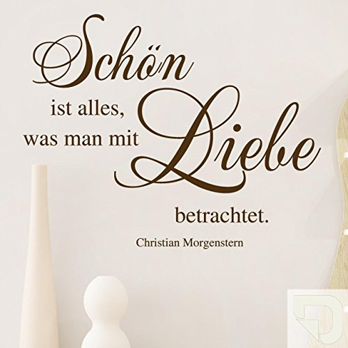 DESIGNSCAPE® Wandtattoo Schön ist alles, was man mit Liebe betrachtet. Zitat von Christian Morgenstern 60 x 48 cm (Breite x Höhe) creme DW802068-S-F102 (Designs Christian Tattoo)