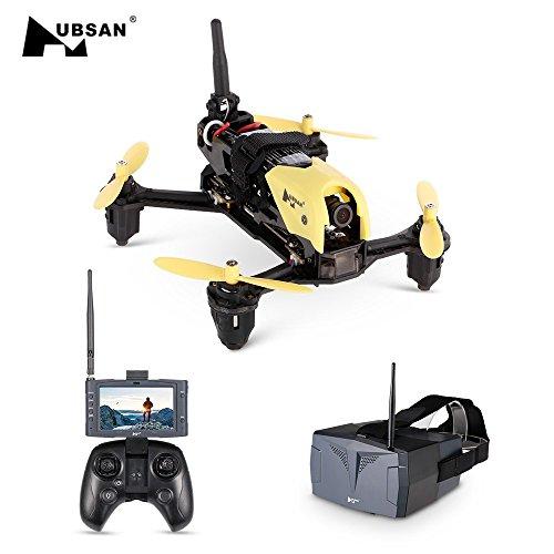 Ocamo Drone Quadcopter con cámara HD 720P,Tormenta RC Helicóptero 4CH 5.8G FPV Hubsan H122D-Micro Speed Racing