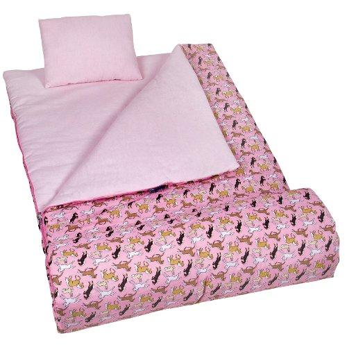 wildkin-horses-in-pink-original-sleeping-bag