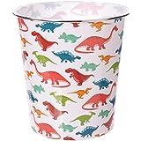 Cestino per la carta in plastica design dinosauri