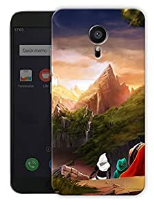"Humor Gang Far Away Castle Printed Designer Mobile Back Cover For ""Meizu Mx5"" (3D, Matte Finish, Premium Quality, Protective Snap On Slim Hard Phone Case, Multi Color)"