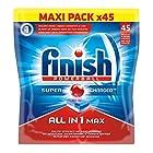 Finish Powerball Tout en 1 Doypack Lave Vaisselle 45 Pastilles