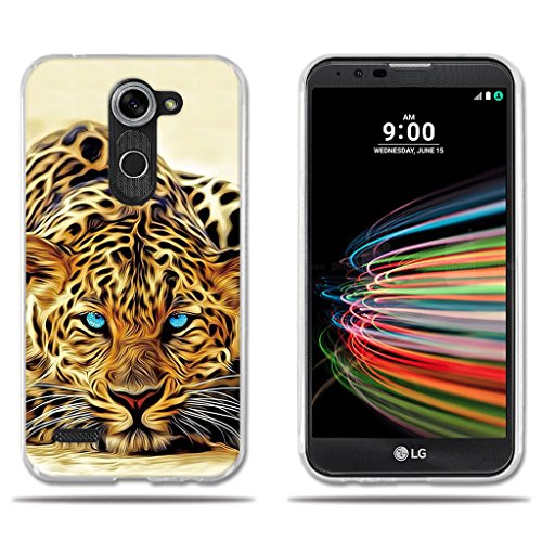 LG X mach/X Fast/K600 Hülle, FUBAODA [Leopard] Transparent Silikon TPU Fashion Kreatives Design 3D zeitgenössischen Chic Slim Fit Shockproof Flexible Stylish Silikon für LG X mach/X Fast/K600
