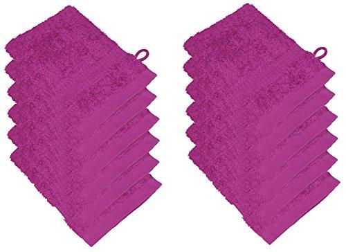 starlabels Serviettes Disponible en 15 couleurs et 5 dimensions doux saugstark 500 g/m², 100% coton, Öko Tex, Coton, rose bonbon, 15 cm x 21 cm