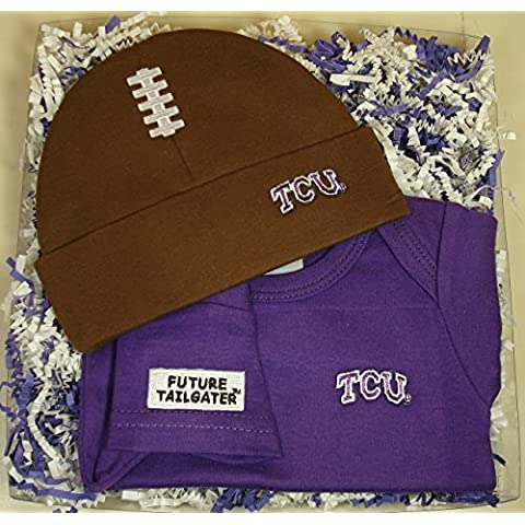 TCU Horned Frogs Baby Onesie and Football Cap Gift Set by Future Tailgater