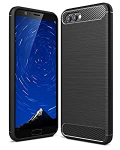 Golden Sand TPU Back Cover for Huawei Honor View 10 Ten (Black)
