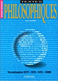Image de Textes philosophiques, classe terminale F / G / H