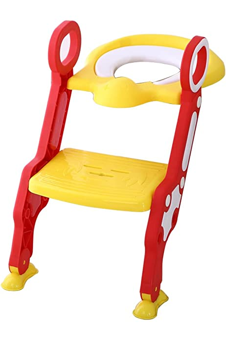 Glenmore Asientos WC Escalera WC Orinal Bebe Reductor (Amarillo): Amazon.es: Bebé