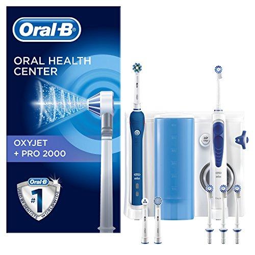 Oral B PRO 2000 Kombi-Set aus elektrischer Zahnbürste und OxyJet Munddusche, wiederaufladbar