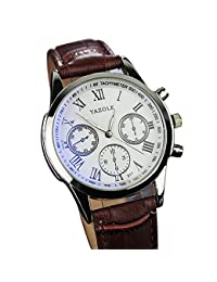 BINZI Watch For Boy,Watch For Mens,Analog Watches Waterproof For Boys,Men Watches Fashion For Men (White Brown)