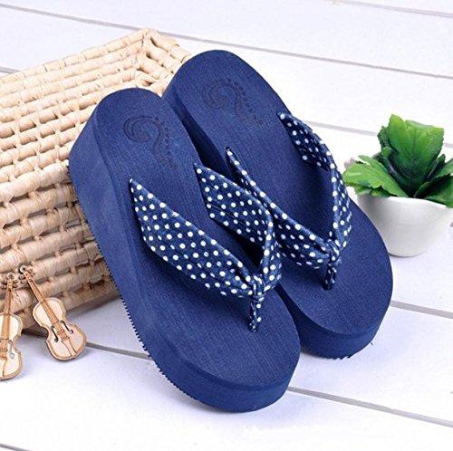Donna Alta Sandali e pantofole spiaggia alla moda Casual Pantofole, 7, 38