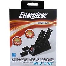 PDP - Cargador Energizer Conduction, Color Negro (Nintendo Wii)
