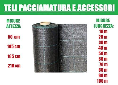 ITALFROM Bâches bâche de paillage Noir Vichy Tissu polypropylène indéchirable - MT 50 x 2,10 H