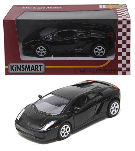 Shunkkâ?¢ Kinsmart Die cast Metal Lamborghini Gallardo Diecast with Door Open,Pull Back Mechanism (Black)