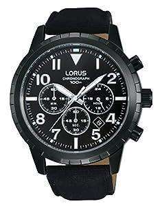 Relojes Lorus hombre-reloj cronógrafo de cuarzo de cuero deportivo RT335FX9 de Lorus Watches