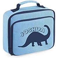 Personalised Name Dinosaur Lunch Bag School Bags Boys Personalised Girls Back to School Lunch Box