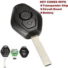 katur 1pcs 3Botón Diamante remoto clave para BMW E38E39E46EWS sistema 433MHZ con pcf7935as Chip HU92hoja