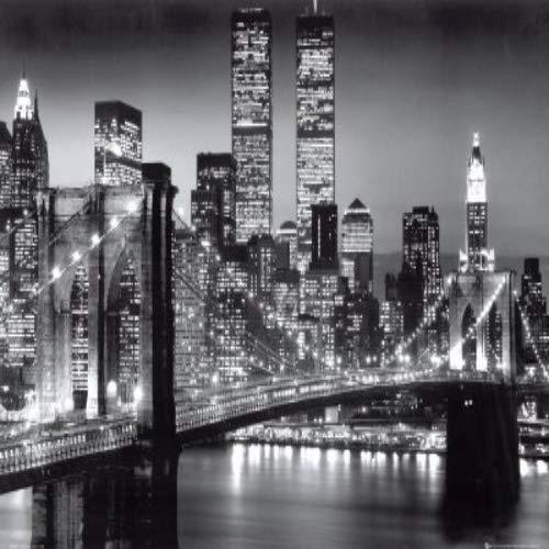 empireposter - New York - Brooklyn Bridge Version 2 - Größe (cm), ca. 91,5x61 - Poster, NEU - schwarz-weiss
