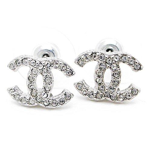 Carolina Meyer Doppelt CC Ohrringe Ohrringe Cubic Zircons Goldfisch Ohrringe - versilbert Schmuck Geschenk für Frauen Mädchen