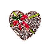 YYOGG Épinglette D'Accessoires De Conception De Boîte De Cadeau De Noël, Noeud Papillon Plein De Broche d'amour De Coeurs De Pêche X565