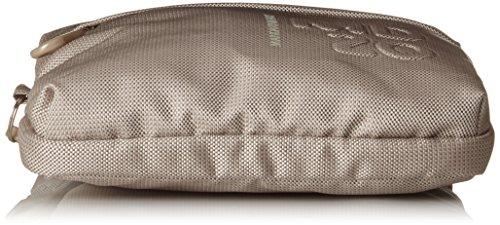 Mandarina Duck Damen Md20 Tracolla Schultertasche, 4x23x21.5 cm Grau (Light Taupe)