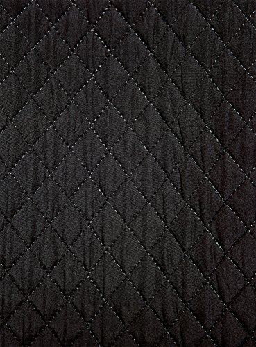oodji Ultra Damen Ausgestellter Rock aus Strukturiertem Stoff Schwarz (2900N)